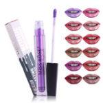 Оригинал MISS ROSE Металлический блеск для губ Материя Shimmer С блестками Губная помада