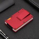 Оригинал МужчиныЖенскоеУглеродноеволокноТонкийДержатель кредитной карты для кошелька RFID Блокировка Анти Scan Metal Cash Clip