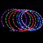 Оригинал 24 LED Свет Вспышка Hula Hoop Фитнес 7 Изменение цвета брюшного упражнения Набор 90 см