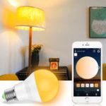 Оригинал E27 7.5W Теплый белый Холодный белый Smart Wifi Светодиодный Лампа Работа с Alexa Google Главная AC100-264V