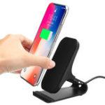 Оригинал Универсальная металлическая 10W Fast Qi Беспроводная зарядная док-станция для настольных держателей для iPhone 8 X Mobile Phone