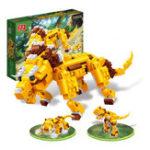 Оригинал BanBao Animal Blocks Toys 3 В 1 Triceratops Tyrannosaurus Tiger Образовательные строительные игрушки из кирпича