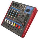 Оригинал EL M SMR503 4-канальный USB Bluetooth Sound Audio Смеситель 48V Power Mixing Console для DJ KTV Караоке