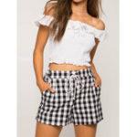Оригинал Plus Размер Женское Эластичные шорты с высокой талией