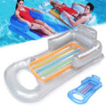Оригинал ПрозрачныйПВХнадувнойЛодкаДлявзрослых Плавающая водяная кровать Пляжный Вода Бассейн Диван Lounger Water Toy