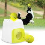 Оригинал Автоматический Pet Собака Launcher Теннисный мяч игрушки Fetch Thrower Throw Up Hyper Game На открытом воздухе Игрушки