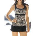 Оригинал Plus Размер Быстрое сушка Прокладка Tankini Elastic Swimsuit