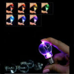 Оригинал Rainbow Bright LED Light Bulb Pendant Keychain