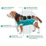 Оригинал Pet Собака Кот Хирургический жилет для Собакаs Болезни легочной раны у беременных после операции Собака Жилет