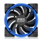 Оригинал Pccooler Halo 12cm 1600RPM RGB Светодиодный Охлаждающий вентилятор 4 Pin PWM Поддержка ASUS AURA для CPU Cooler