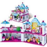 Оригинал BanBao Building Blocks Toys Beauty Волосы Salon Bricks Модельная игрушка 6111, совместимая с Legoe для девочки