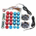 Оригинал Blue Red LED Кнопочный двойной джойстик LED Шнур для кодировщика Набор для игрового контроллера игры DIY