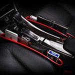 Оригинал 2шт Кожа Авто Крепление для хранения сидений Органайзер Caddy Catcher Коробка Seat Slit Pocket
