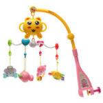Оригинал Мелодии Песня Baby Mobile Crib Bed Bell Kid Игрушка Электрическая музыка Коробка Любовь Soft Colorful Плюшевые игрушки для кукол