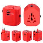 Оригинал All In One Универсальный адаптер для путешествий 5V 2.1A 2500MA 2 USB-порт EU US UK AU Plug-адаптер адаптер для путешествий