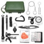 Оригинал SOS Emergency Equipment Набор Набор Выживание Тактическая охота Инструмент Первая помощь Коробка