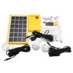 Оригинал Солнечная Power Panel Generator Набор 5V USB-зарядное устройство Домашняя система с 3 лампами LED