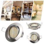 Оригинал LUSTREON 5W 64 LED 490lm Круглый утопленный потолочный светильник Dimmable Spotlight AC220V-240V