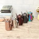 Оригинал 650млНержавеющаястальНалейтекапельницу кофе Чай Чайник для канистры цветful Домашняя кухня Чай Изготовление Набор
