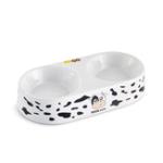 Оригинал  Керамический Чаша для еды и воды Чаши для кормления для домашних животных Двойные чаши Set Cute Cow Шаблон