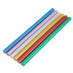 Оригинал 10Pcs 11mmx200mm Colorful С блестками Горячий расплавленный клей Палка Colorant DIY Crafts Repair Model Adhesive Stic