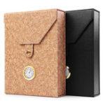 Оригинал Портативная вышитая кожаная сигарета для сигары с сигаретой для путешествий Чехол Коробка с гигрометром Humidor