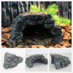 Оригинал Скрыть Скрытие пещеры Рыба Черепаха Танк Рептилия Баскирование Украшение Украшение