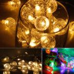 Оригинал Батарея Powered 20/30 LED String Holiday Light Bulb Garland Лампа Рождественская вечеринка Сад Декор