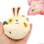 Оригинал Редкий кролик Squishy 10.5 * 7.5cm Медленный рост с подарком коллекции упаковки Soft Игрушка
