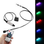 Оригинал 3PCS LED RGB LED Газонокосилка с RF Дистанционный Контроллер для охлаждения воздушного охлаждения