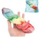 Оригинал Радуга Twist Хлеб Squishy 21 * 5CM Медленный рост с подарком коллекции упаковки Soft Игрушка