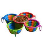 Оригинал Складной Силиконовый Pet Bowl Портативный Собака Пищевые продукты для подачи питьевой воды На открытом воздухе Чаша