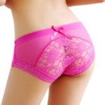 Оригинал Sexy Transparent Floral Lace Low Waist Panties