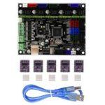Оригинал MKS-GEN L V1.0 Интегрированная плата контроллера + 5шт. DRV8825 Шагомер Мотор Драйвер совместимый Ramps1.4 / Mega2560 R3 Для 3D-принтера