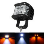 Оригинал 12V 10V-48V LED Work Fog Light Side Shooter Combo Dual Color Driving Внедорожник внедорожник