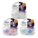 Оригинал Avent 2pc Transparent Infant Силиконовый Pacifier (для 6-18 M) Baby Soother BPA Free Малыш Ортодонтические ниппели Teether