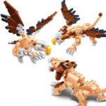 Оригинал BanBao Блоки Игрушки 3 В 1 Льве Eagle Гриффин Животных Образовательных Кирпич Игрушки