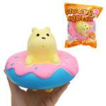 Оригинал Giggle Donut Bear Squishy 13.5 * 6 * 15CM Медленный рост с подарком коллекции упаковки Soft Игрушка