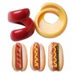 Оригинал 2штFancySausageCutterСпиральПластиковые барбекю Hot Dogs Slicer Посуда для резки Набор