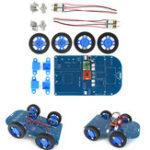 Оригинал 4WD Bluetooth Управляемый смарт-робот Авто Набор с N20 Зубчатая передача Мотор для Arduino