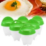 Оригинал 6PCSGreenEgglettesMakerЯйцоБойлер Жаркое вареное яйцо без яиц яйцо Egglets Egg Набор