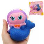 Оригинал Mermaid Squishy 10 * 9.5 * 6CM Медленный рост с подарком коллекции упаковки Soft Toy