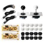Оригинал Черная белая кнопка Двойной джойстик USB Encoder Board DIY Набор Набор для игрового контроллера игрового ПК