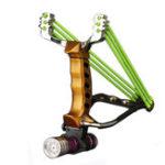 Оригинал IPRee®НаоткрытомвоздухеТактическаяметаллическая рогатка Резина Стандарты Катапульта Кемпинг Игра Sling Shot Набор