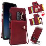 Оригинал BakeeyКошелекзащитныйЧехолсремешком для Samsung GalaxyS9Plus PU кожаные гнезда для карточек карманные