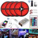 Оригинал 20M 20A 240W SMD5050 IP20 Smart Home WiFi APP Control LED Свет прокладки Набор Работа с Alexa AC110-240V