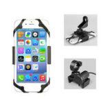 Оригинал Универсальное USB-зарядное устройство Anti-slip мотоцикл Handbar Rear View Зеркало Подставка для телефона для Xiaomi