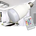 Оригинал E27 7W RGBW Музыка Аудио Bluetooth Динамик Светодиодный Смарт-лампа с Дистанционное Управление AC100-240V