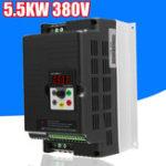 Оригинал 5.5KW 220V 3-фазный преобразователь частоты с переменным частотным преобразователем Мотор Контроллер скорости