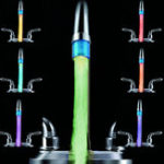 Оригинал Распознаваниепотокаводы7Цветамигает Светодиодный Свет водопроводной кранной лампы или LED Контрольная головка для контро